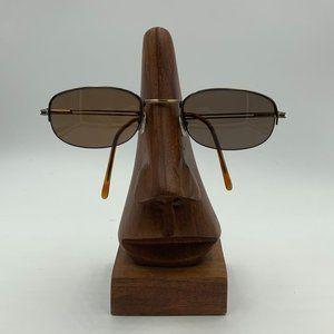Vintage Liz Caliborne Metal Gold Oval Sunglasses